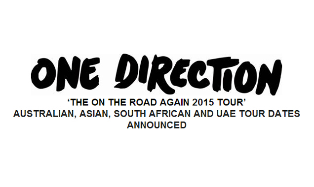 One Direction 'The On The Road Again 2015 Tour' Australian, Asian, South African And Uae Tour Dates Announced