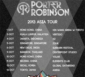 Porter Robinson Announces Asia Tour This October 2013