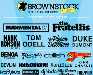 Rudimental And Tom Odell Added To Brownstock Festival Line Up For 2013