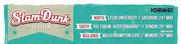 Slam Dunk Festival 2014 Add We Are The In Crowd, Less Than Jake And Many More!