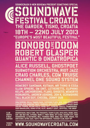 Soundwave Festival Croatia 2013 Announces Eclectic Full Lineup With Bonobo & Ghostpoet Plus Many More.