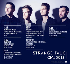 Strange Talk Announce Cmj Shows And North American Autumn 2013 Tour Dates