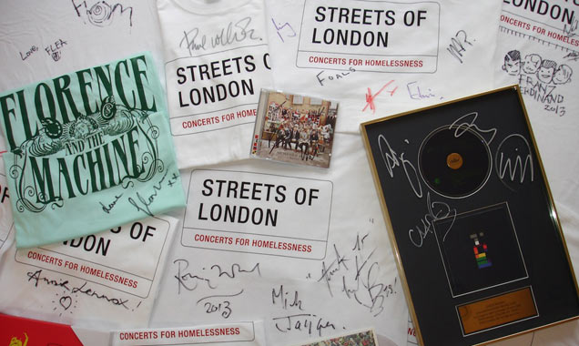 Streets Of London Launch New Charity Auction With Donations From The Rolling Stones, The Killers, Biffy Clyro And Many More!