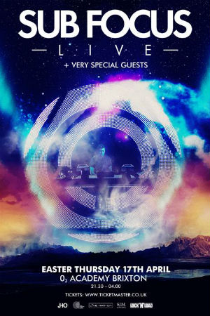 Sub Focus Announces Headline Live Show At Brixton Academy On 17th April 2014