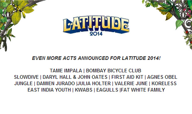 Tame Impala, Bombay Bicycle Club, Scroobius Pip, Hall & Oates & Many More Added To Latitude 2014 Bill