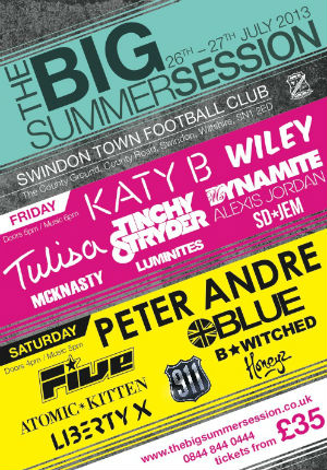 The Line-up So Far For The Big Summer Session 26th - 27th July 2013