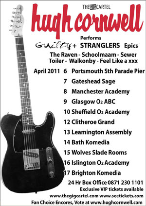 The Stranglers 'Hugh Cornwell' To Release Ltd Edition Album On UK Tour