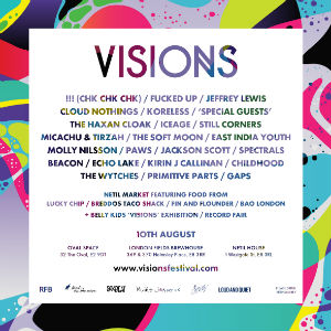 Visions Festival 2013 Latest Line-up Announcement To Include Koreless, East India Youth, Paws, Gaps, Kirin J Callinan And Primitive Parts
