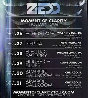 Zedd Adds Six More Dates To The Moment Of Clarity Tour 2013 - Leading Up To New Years Eve Show In Chicago