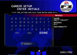 PS2 - WF1 Career Challenge Screen Shots