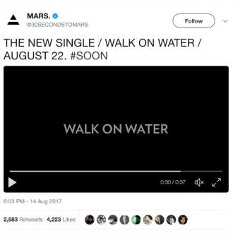 30 Seconds To Mars announce new single