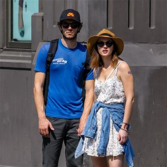 Leighton Meester and Adam Brody laugh at romance
