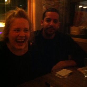 Adele Enjoys David Blaine Magic