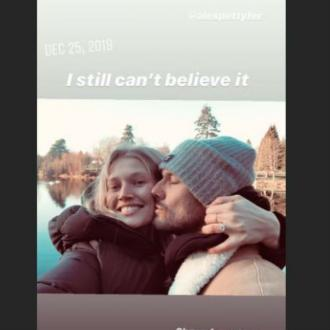 Alex Pettyfer and Toni Garrn engaged