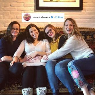 America Ferrara celebrates pregnancy with friends