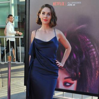 Alison Brie flattered by foot followers