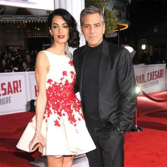 George Clooney's tribute to pregnant wife