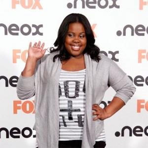 Amber Riley Sings For Baseball