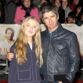 Noel Gallagher's daughter dyed armpits bright pink