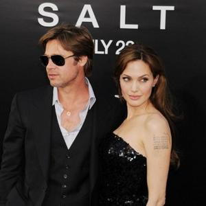 Angelina Jolie Treads Black Carpet For Salt