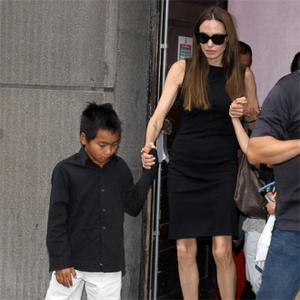 Angelina Jolie And Pax Meet With His Grandmother