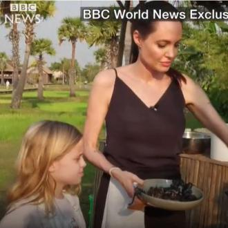 Angelina Jolie cooks tarantulas for her children to eat