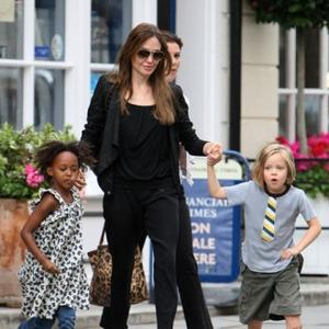 Angelina Jolie's Family Shopping Spree