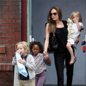 Angelina Jolie Takes Daughters To Get Ears Pierced