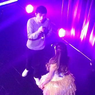 Ariana Grande Joined Onstage By Nathan Sykes