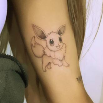 Ariana Grande gets Pokemon themed tattoo