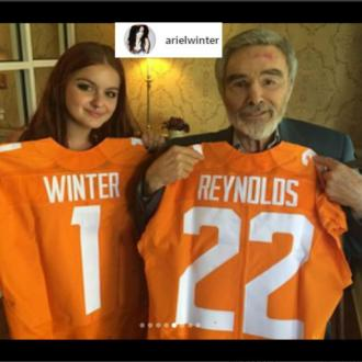 Ariel Winter pays tribute to Burt Reynolds