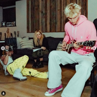 Avril Lavigne and Machine Gun Kelly hit the studio