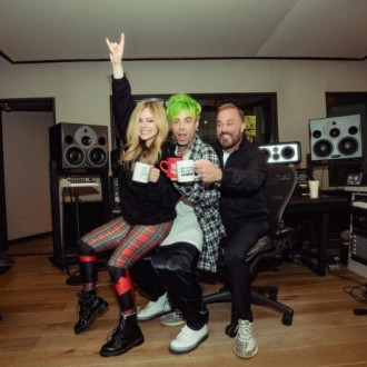 Avril Lavigne is hard at work in the studio working on her next album