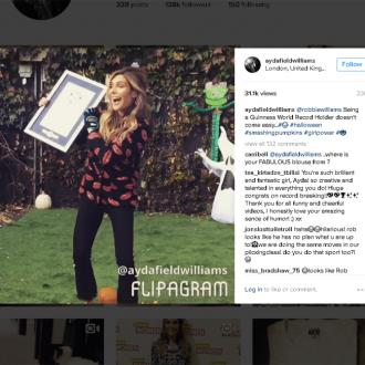 Ayda Field becomes Guinness World Records holder