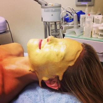 Bar Refaeli Gets Pure Gold Facial