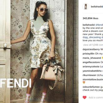 Bella Hadid: Fendi's S/S 2017 campaign is the best way to start the New Year