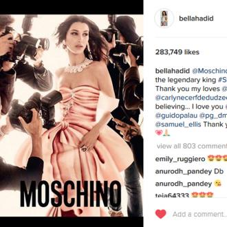 Bella Hadid Stars In Moschino's S/s 17 Campaign With Sister Gigi Hadid