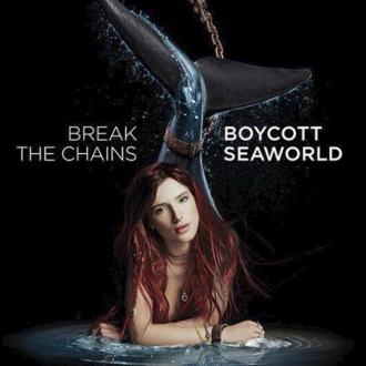 Bella Thorne throws shade at SeaWorld in PETA campaign
