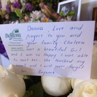 Beyonce Sends Flowers To Late Fan's Family