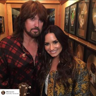 Demi Lovato's houseparty with Billy Ray Cyrus