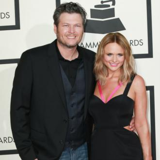 Blake Shelton Jokes With Miranda Lambert