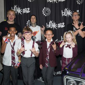 Blink-182 hang out with School of Rock cast
