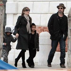 Brad Pitt And Angelina Jolie Visit Children's Cancer Centre