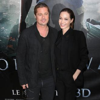 Happy Couple Angelina Jolie And Brad Pitt