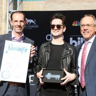 Brendon Urie gifted key to Las Vegas