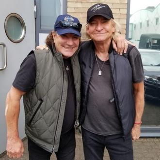 Brian Johnson and Joe Walsh join forces in studio