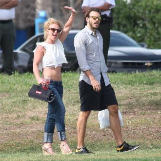 Britney Spears sons bond with her boyfriend