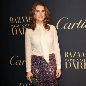 Brooke Shields mixes 'feminine and masculine tones'