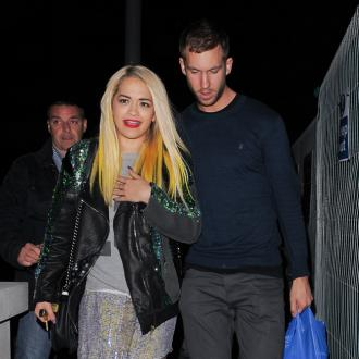 Rita Ora And Calvin Harris Have Festive Bust-up