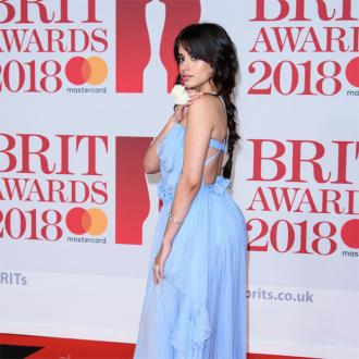 Camila Cabello and stars support #MeToo on the BRITs red carpet